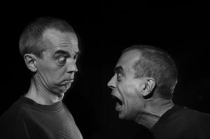 Photo of two men arguing